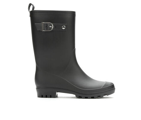 Women's Capelli New York Matte Solid Mid Rain Boots