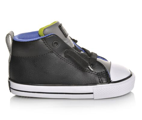 Boys' Converse Infant Chuck Taylor Street Mid Leather Sneakers