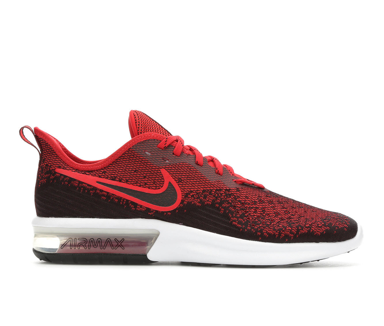 Economic Popular Men's Nike Air Max Sequent 4 Running Shoes Blk/Red 006