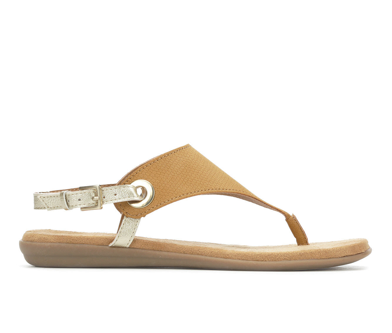 Women's Solanz Layla Sandals Natural w/ Gold