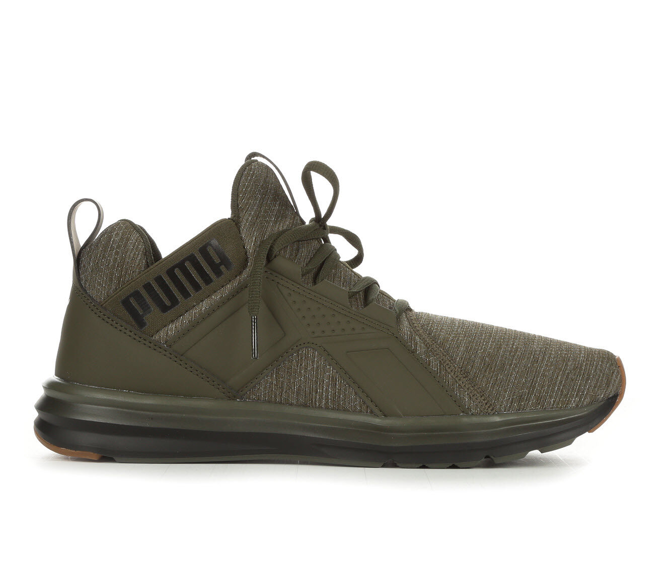 For Cheap Men's Puma Enzo Heather Ripstop Sneakers Green/Black