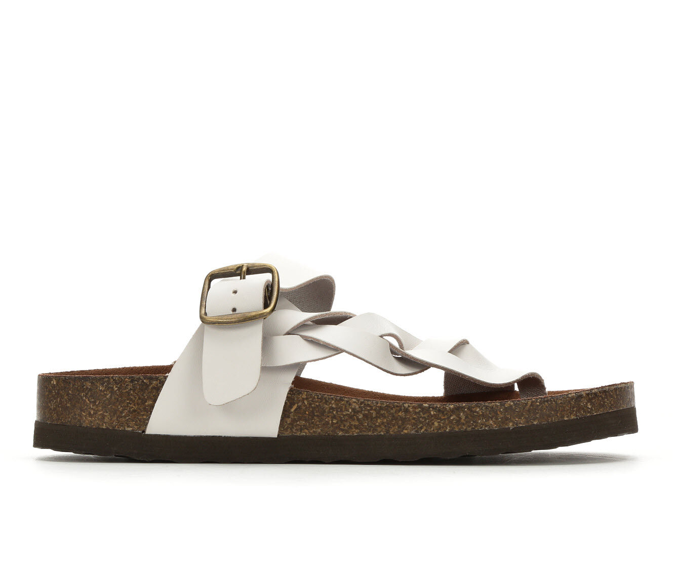 autumn styles Women's White Mountain Crawford Footbed Sandals White
