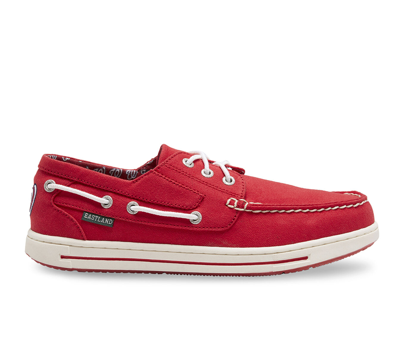 Men's Eastland Adventure MLB Nationals Boat Shoes Red