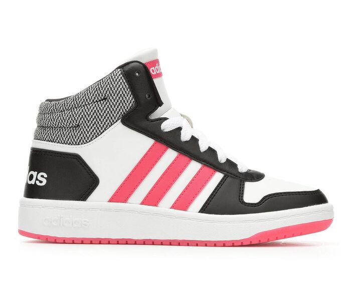 Girls' Adidas Hoops Mid 2 K 10.5-7 High Top Basketball Shoes