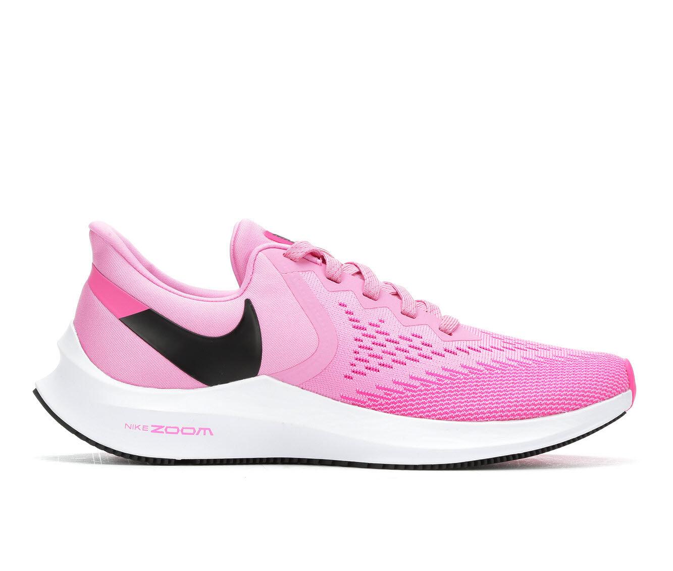 Women's Nike Zoom Winflo 6 Running Shoes Fuchsia/Wht/Blk