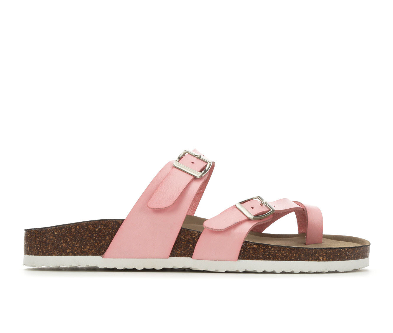 Cost Charm Women's Madden Girl Bryceee Footbed Sandals Pink/White