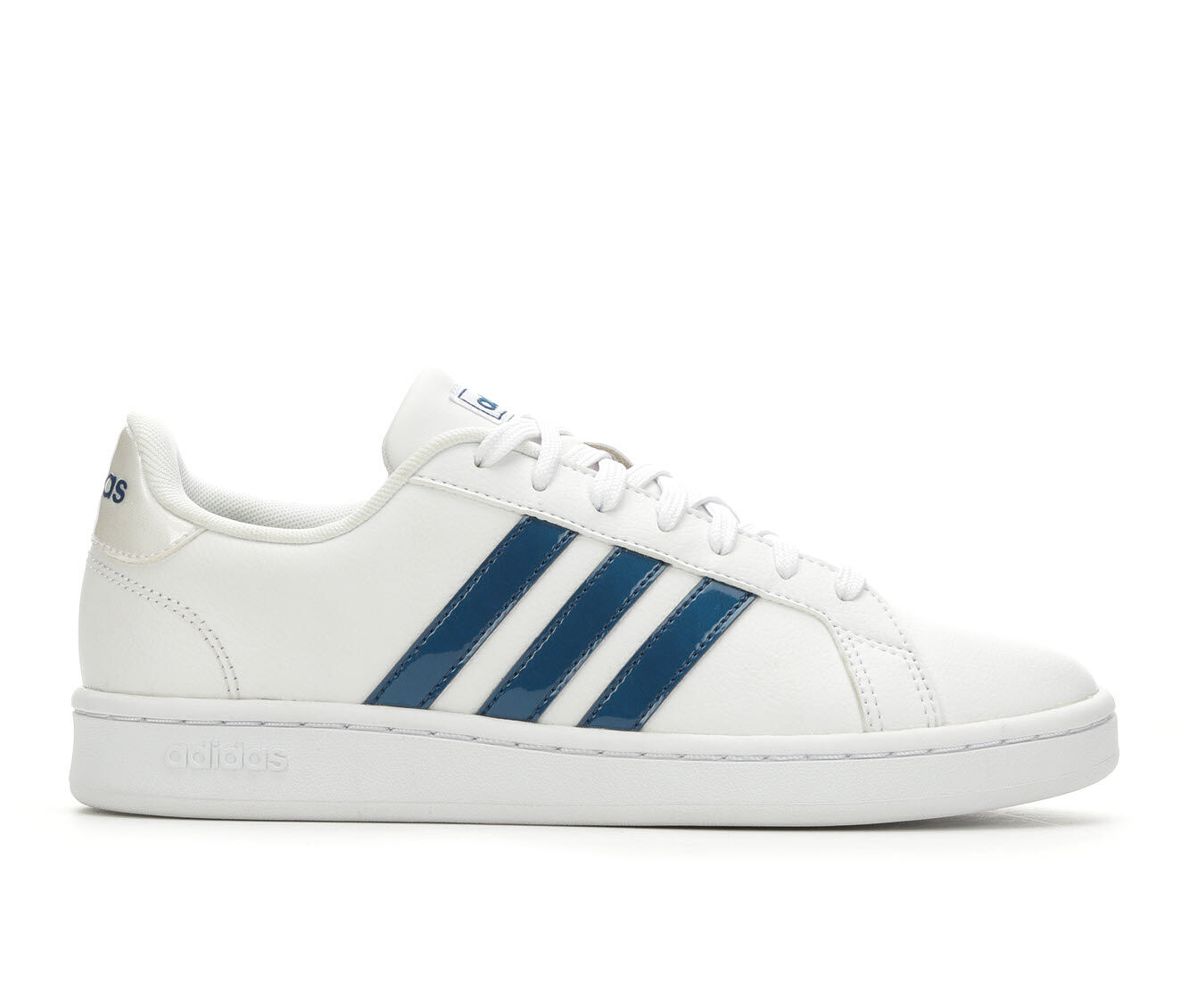 Women's Adidas Grand Court Basketball Shoes White/Marine Bl