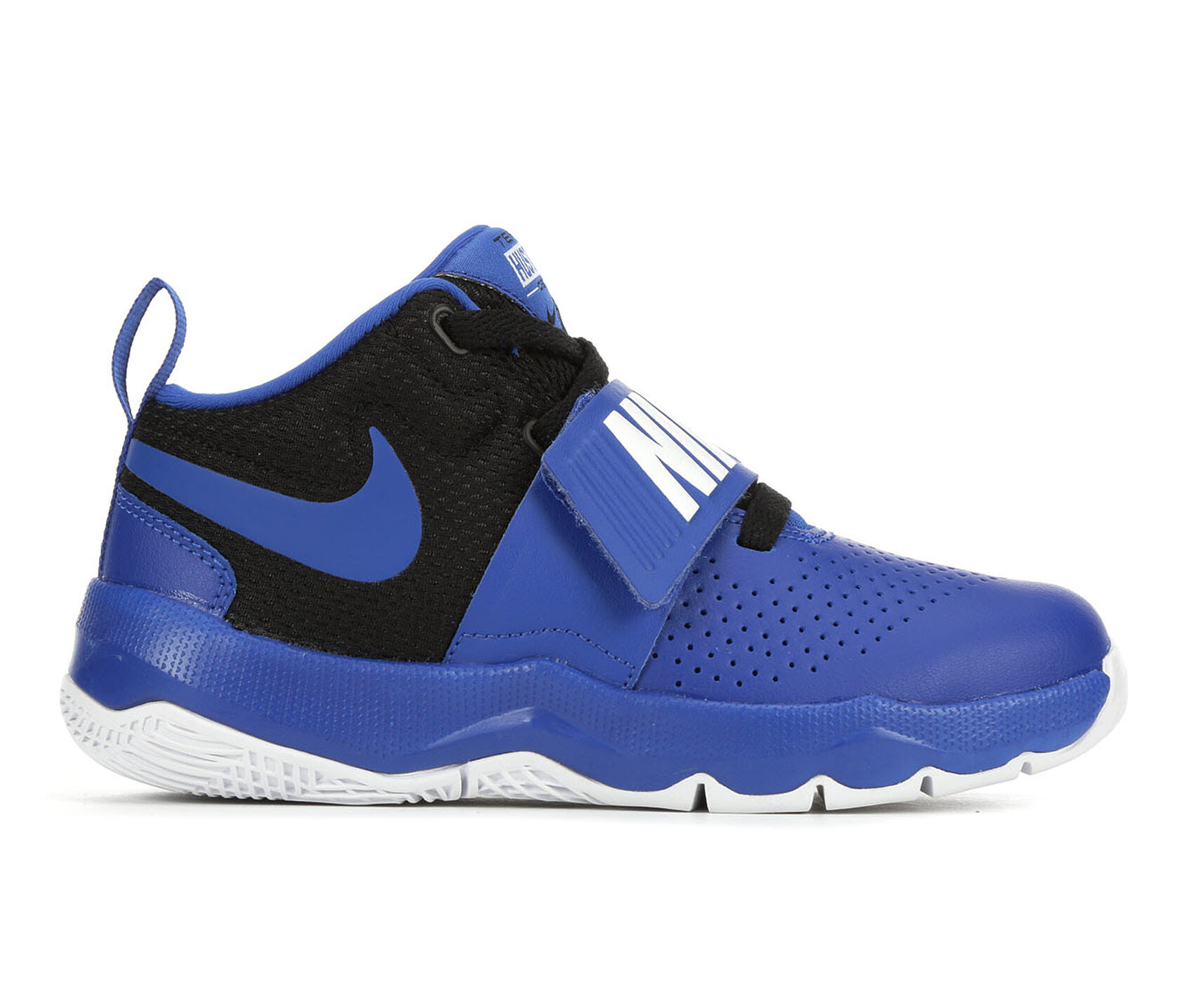 Boys' Nike Team Hustle D8 10.5-3 High Top Basketball Shoes ...