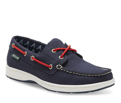 Women's Eastland Solstice MLB Braves Boat Shoes