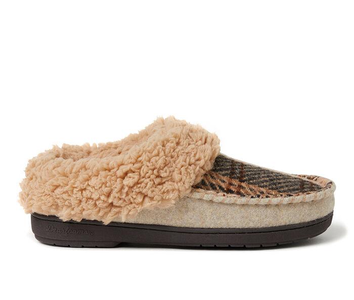 Dearfoams Elaine Plaid Clog Slippers