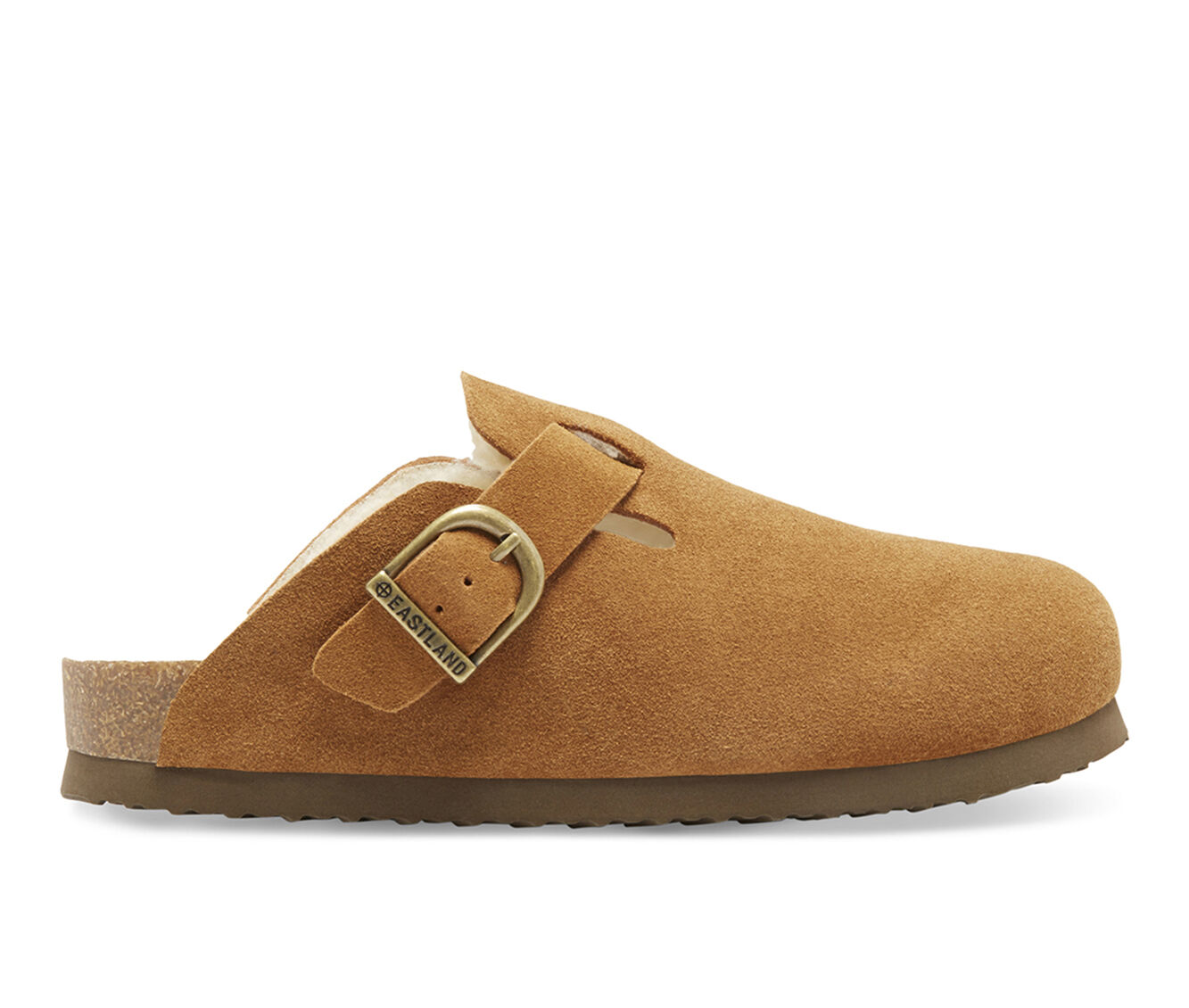 For Cheap Women's Eastland Gina Lined Clogs Nutmeg