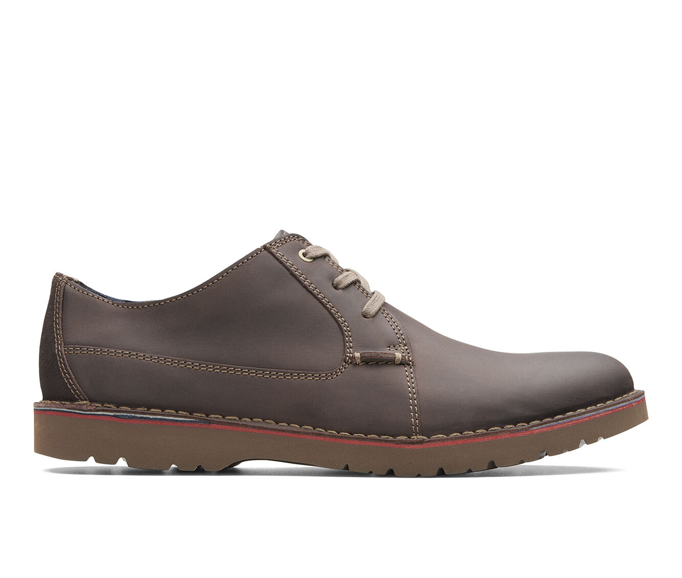 Men's Clarks Vargo Plain Dress Shoes Dark Brown