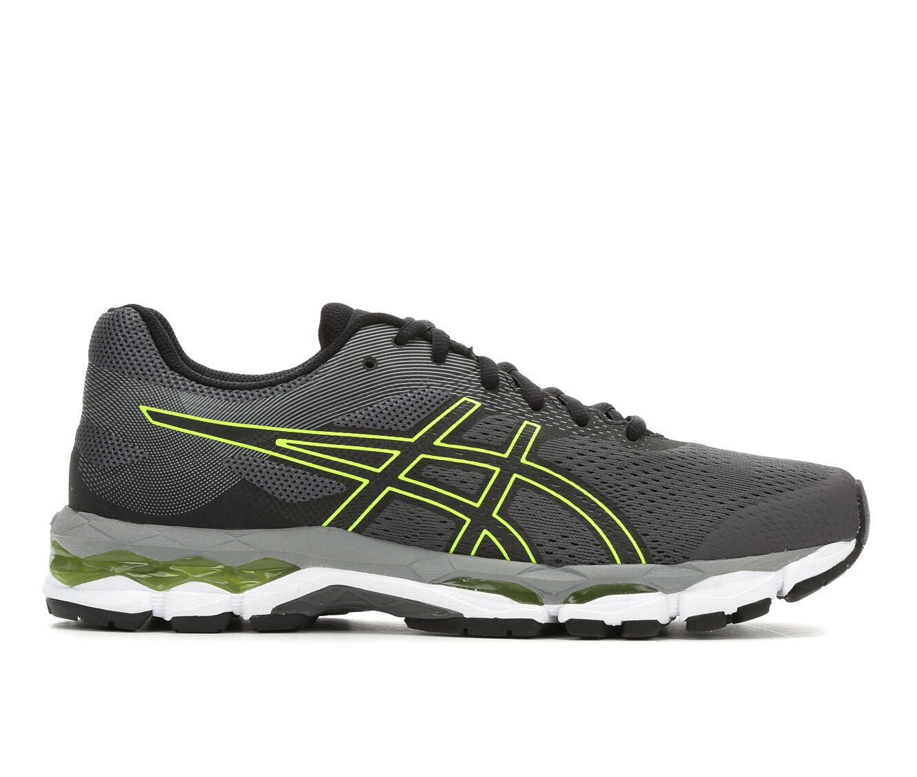 affordable Men's ASICS Gel Superion 2 Running Shoes Gry/Grn/Bk/Wh