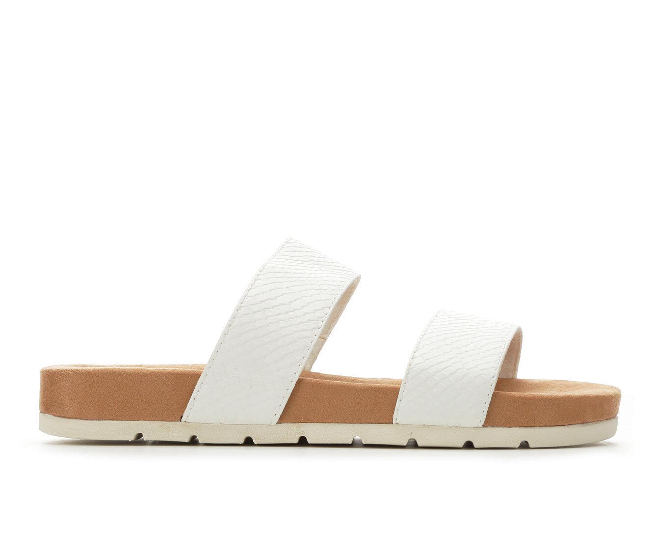 Quite Brilliant Women's Cliffs Tahlie Strappy Footbed Sandals White