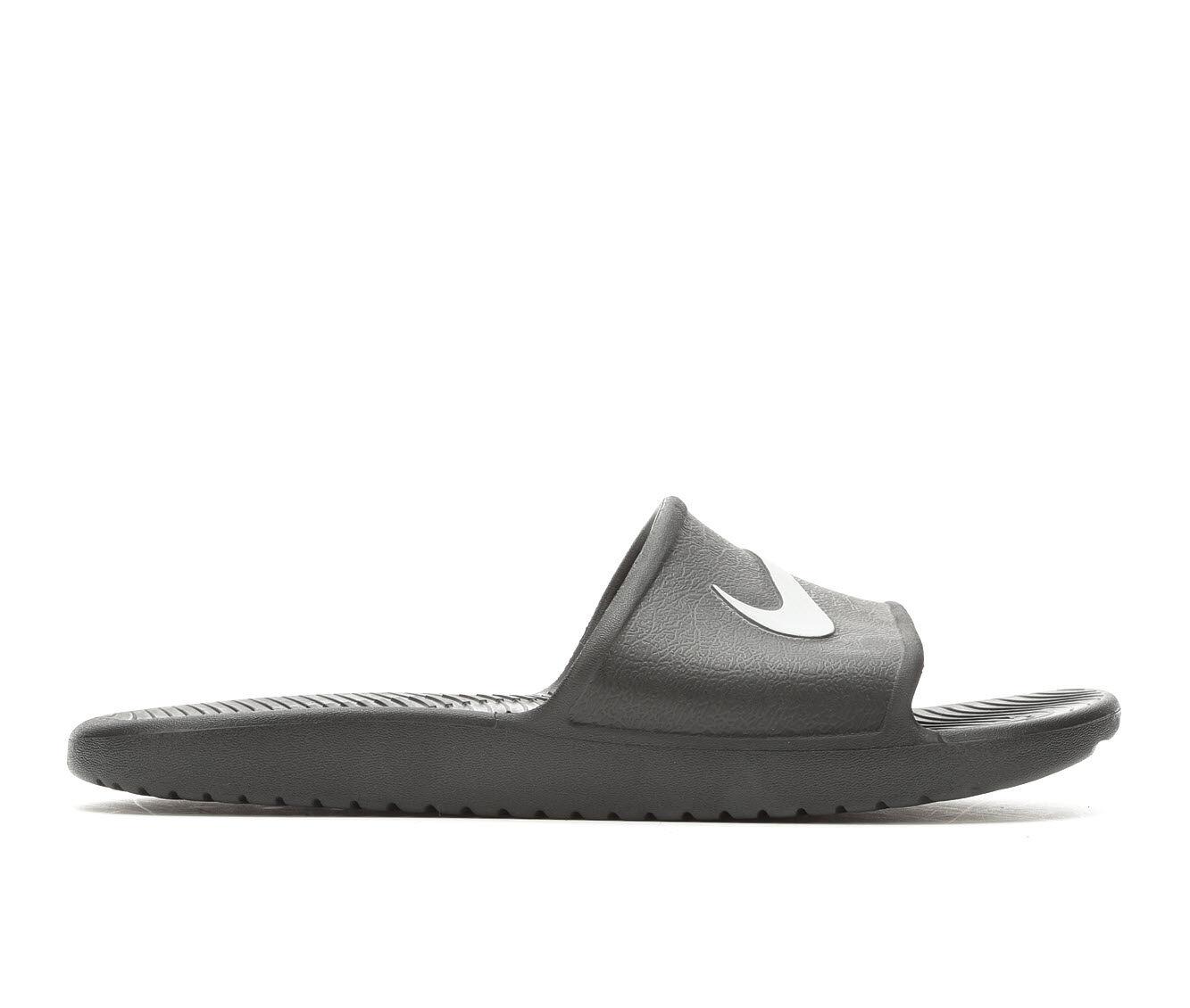 hot sale Men's Nike Kawa Shower Sport Slides Black/MetalSlvr