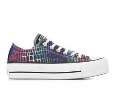 Women's Converse Chuck Taylor All Star Rainbow Croc Lift Ox Platform Sneakers