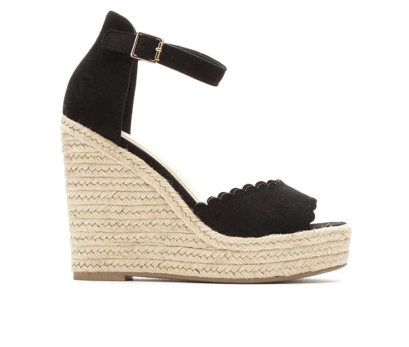 Good Quality Women's Y-Not Herald Wedge Sandals Black