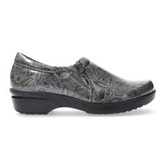 Women's Easy Works by Easy Street Tiffany Grey Floral Safety Shoes