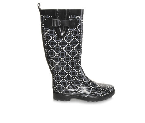 Women's Capelli New York Circle Pattern Rain Boots