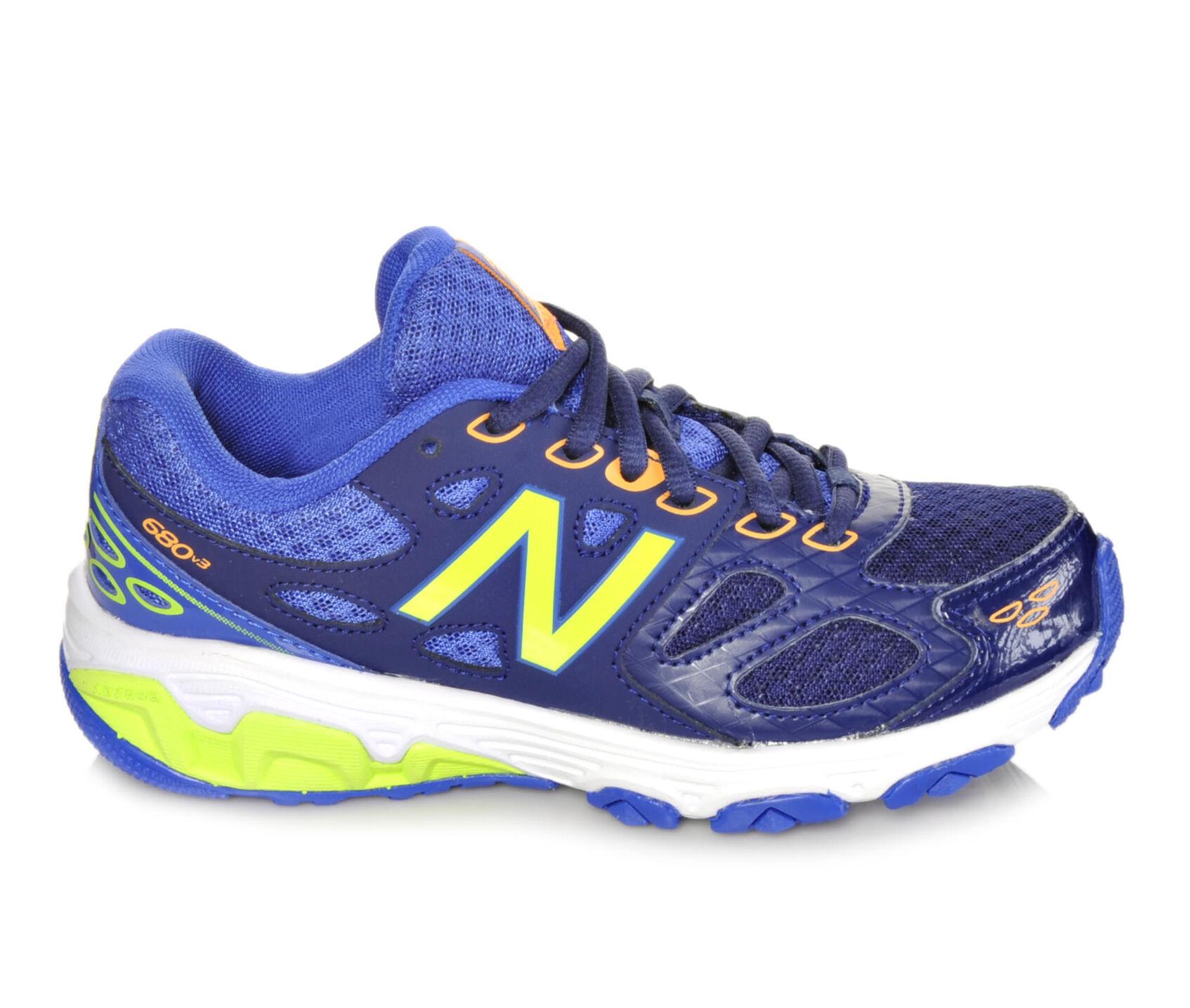 new balance blue. boys\u0026#39; new balance kr680bty 10.5-7 running shoes blue