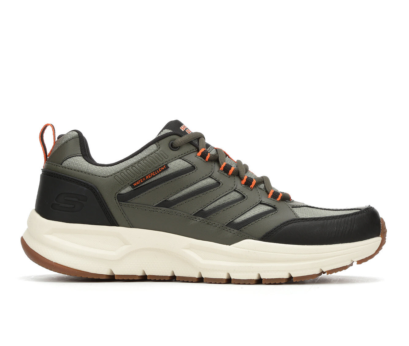 discount Men's Skechers Escape Plan 2.0 Running Shoes Ol/Bk/Gy/Org/Wh