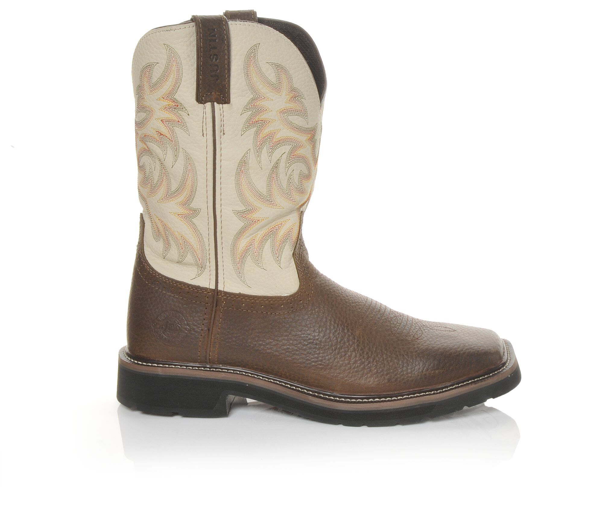Men's Justin Boots WK 4683 Stampede 11 In Work Boots Brown/Cream