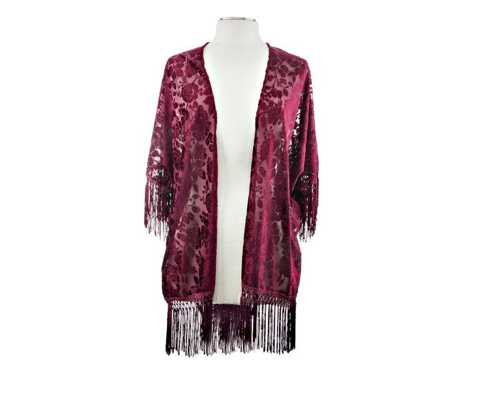 Rampage Floral Velvet Kimono