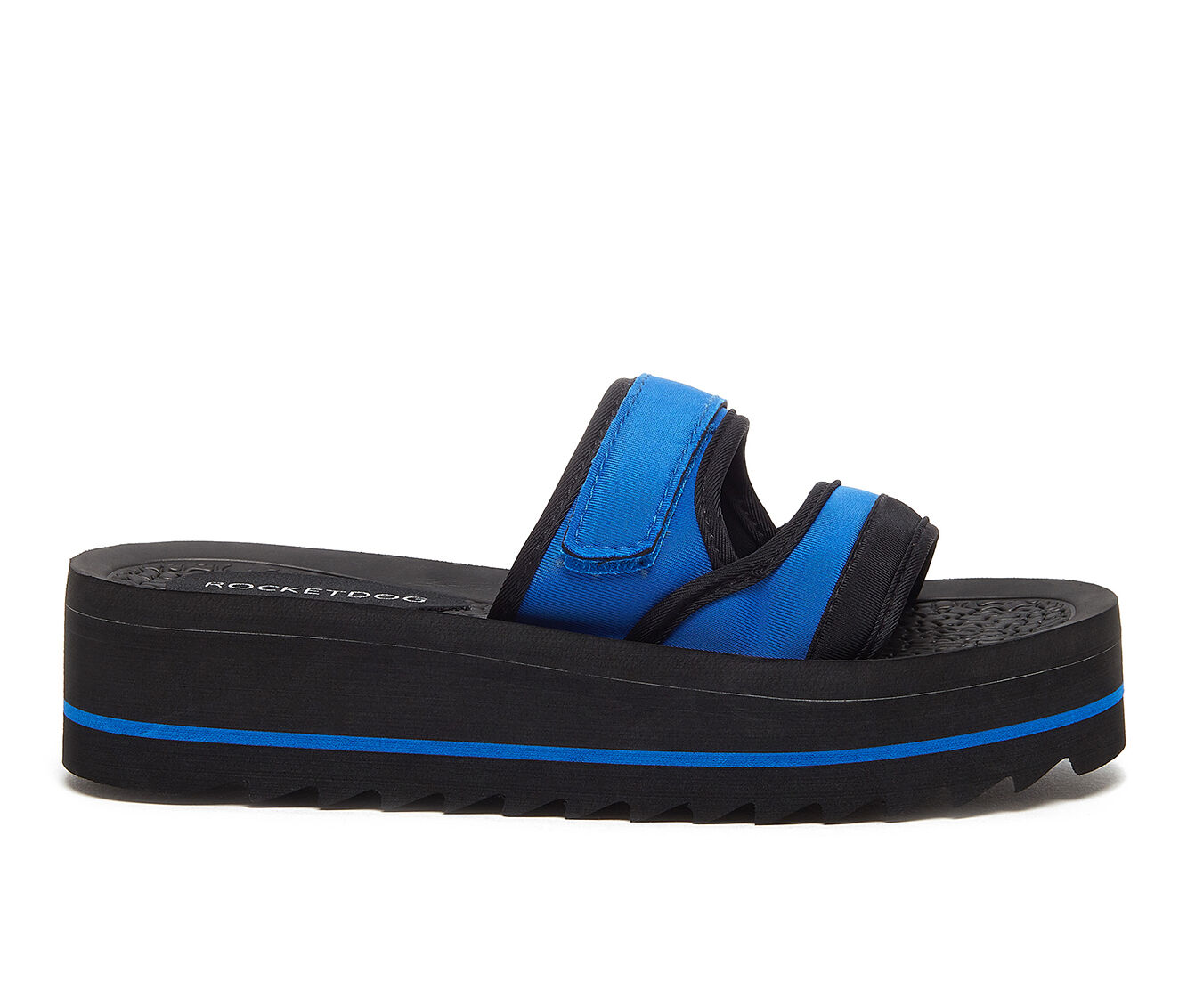 Women's Rocket Dog Manto Flatform Sandals Blue/Black