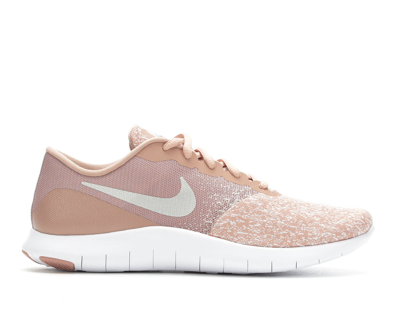Women's Nike Flex Contact Running Shoes Pink/White/Silv