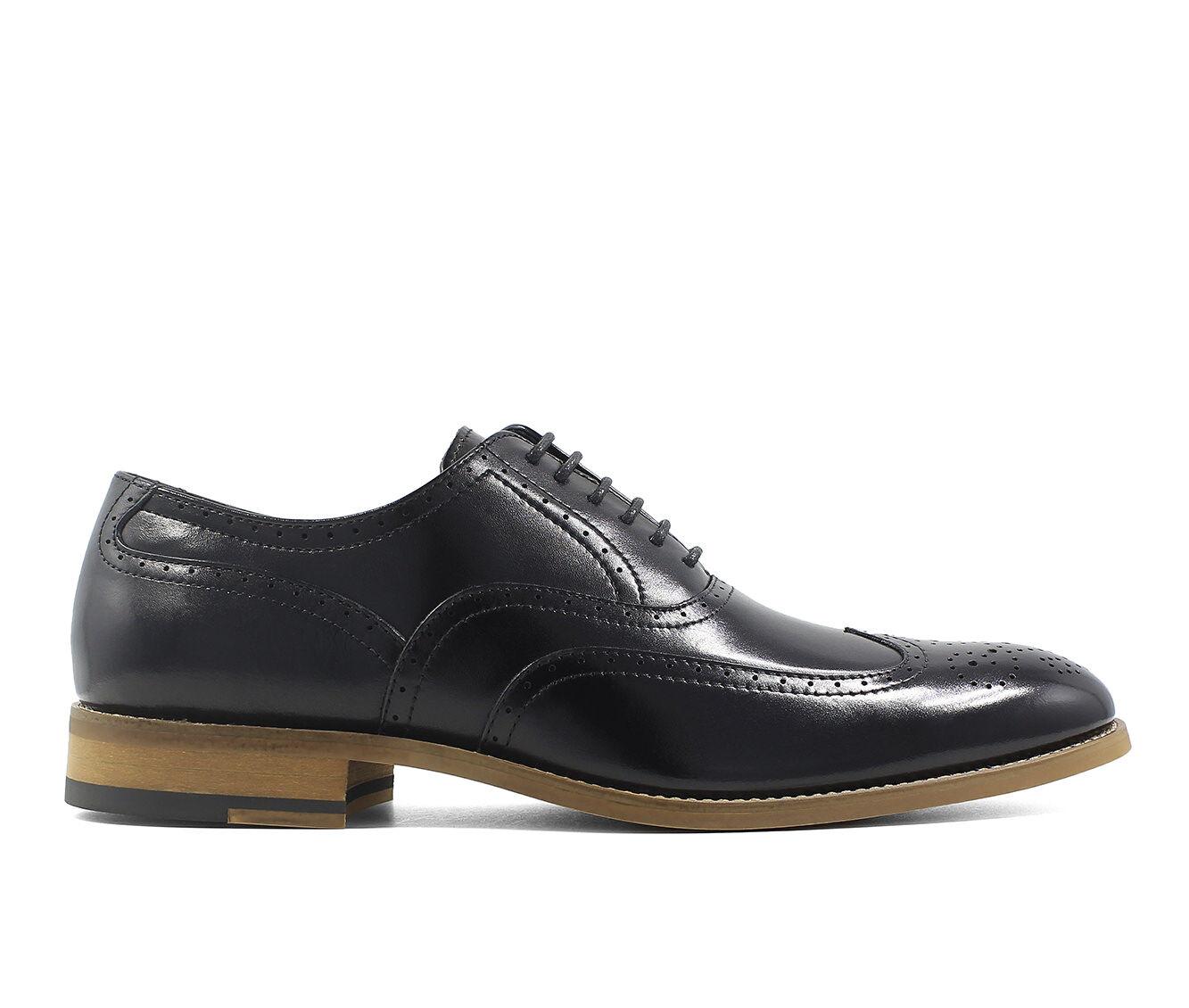 Promotional Men's Stacy Adams Dunbar Wingtip Wing Tip Dress Shoes Black
