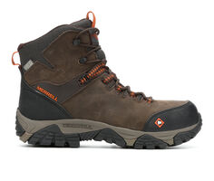Men's Merrell Work Strongfield Leather Mid Waterproof Comp Work Boots