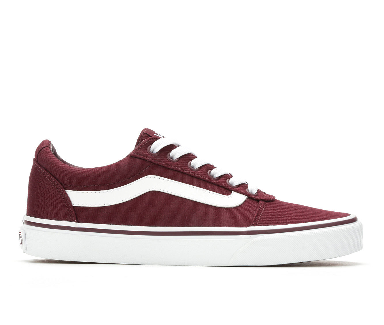 Women's Vans Ward Skate Shoes Burgundy/Wht