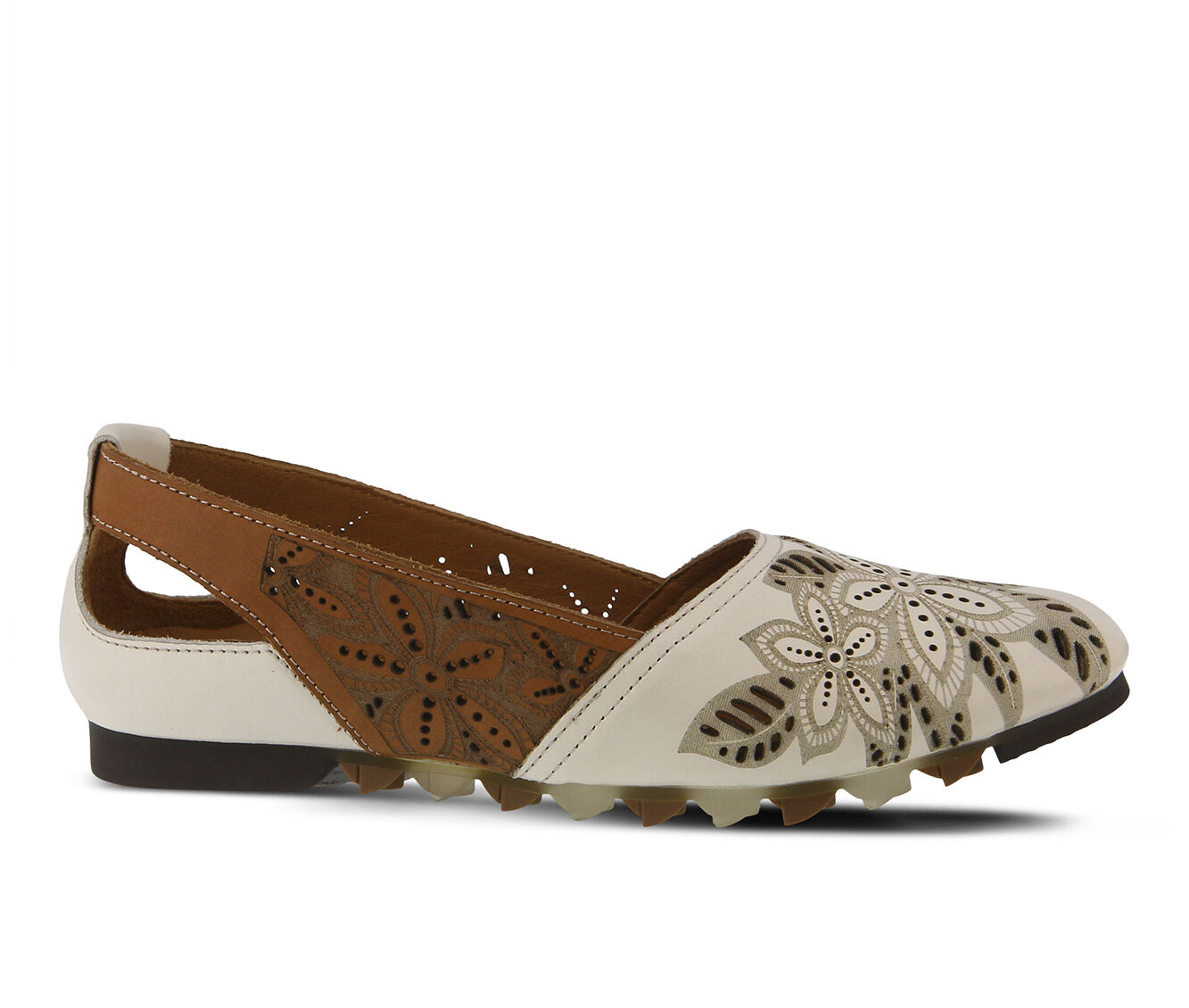 Women's SPRING STEP Alanna Flats Off White Multi