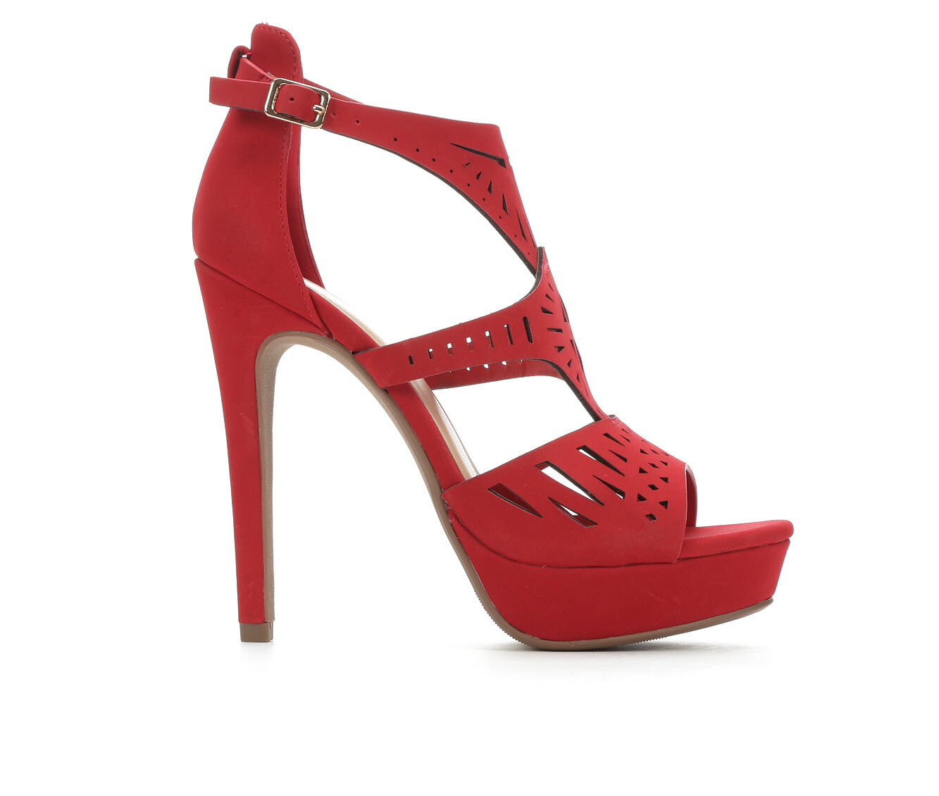 Women's Delicious Abagale Heeled Sandals Lipstick Jul PU