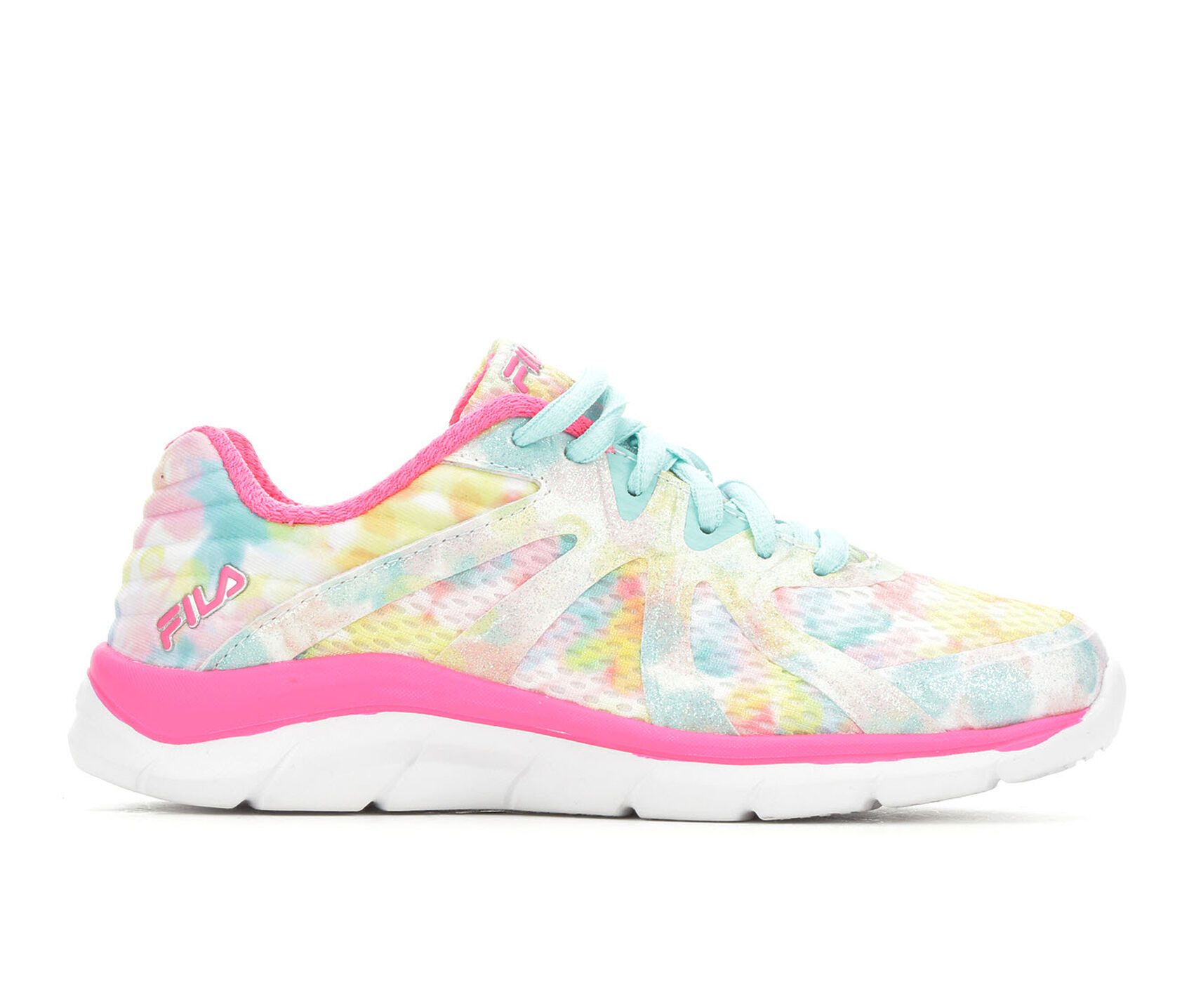 5408ce56692b5 Girls' Fila Little Kid & Big Kid Fraction 3 Glitter Running Shoes