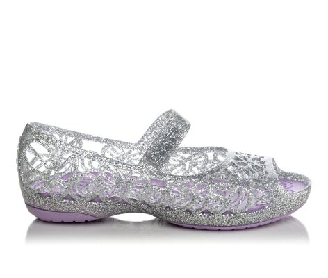 Girls' Crocs Isabella Glitter Jelly Flat PS 8-13