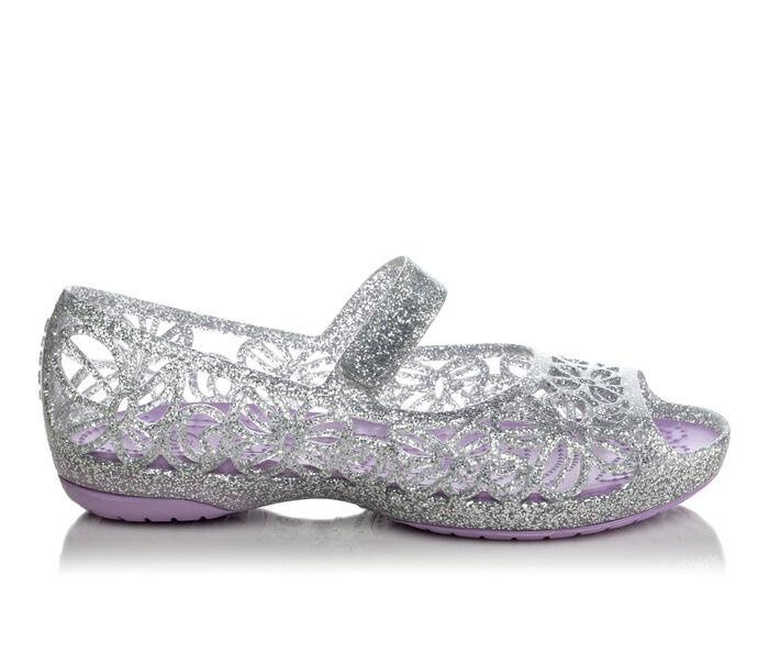 Girls' Crocs Isabella Glitter Jelly Flat PS 8-13
