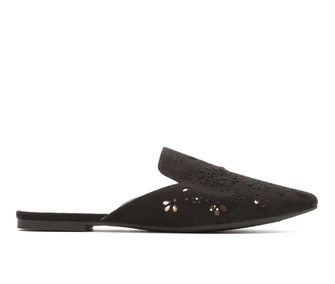 Carries New Women's Y-Not Emily Pointy Toe Mules Black Micro