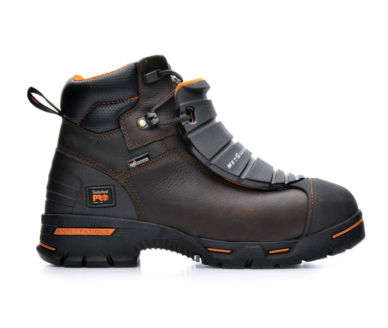 Men's Timberland Pro A172T Endurance Steel Toe Met Guard Work Boots Brown