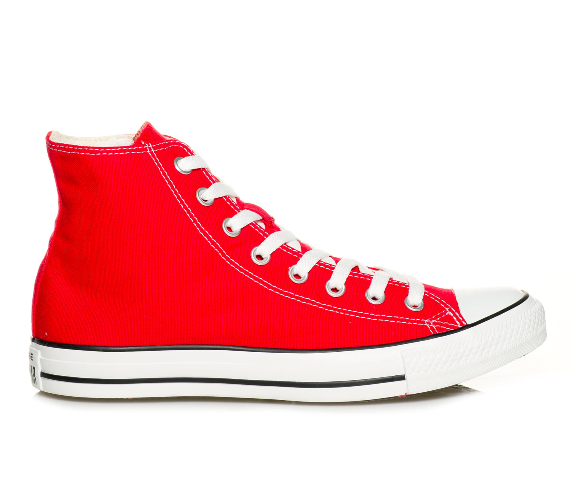 Adults' Converse Chuck Taylor All Star Canvas Hi High Top Sneakers Red