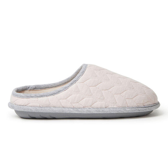Dearfoams Ashley Cable Quilt Bound Clog Slippers