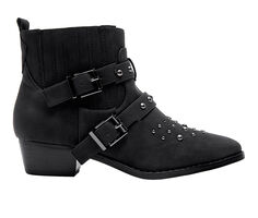 Women's Jane And The Shoe Cindy Moto Booties