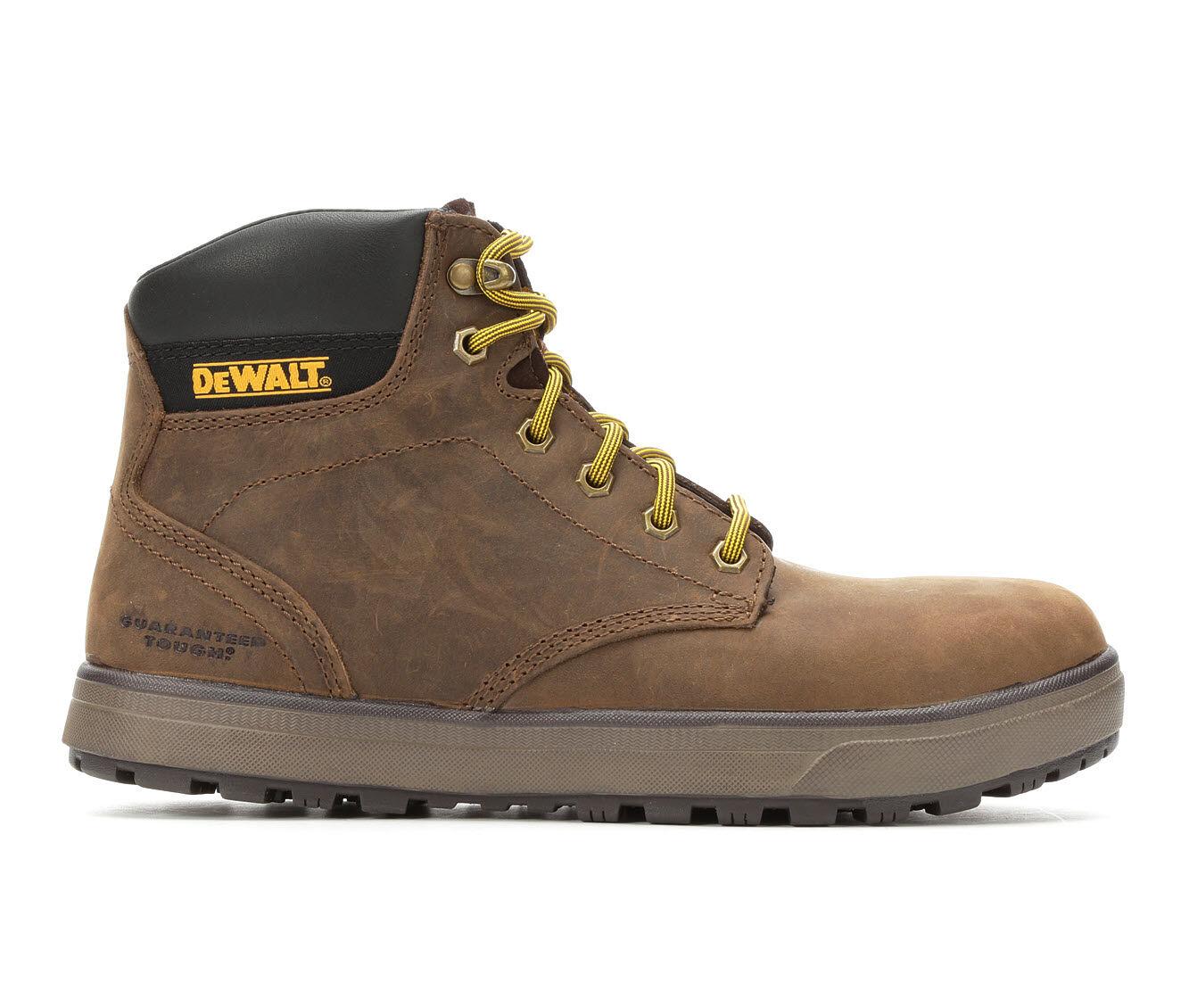 Men's DeWALT Plasma 6 Inch Steel Toe Work Boots Brown