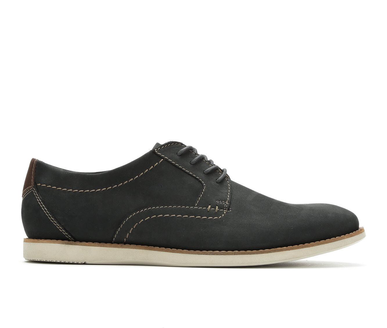 Men's Clarks Raharto Plain Toe Dress Shoes Blue Nubuck