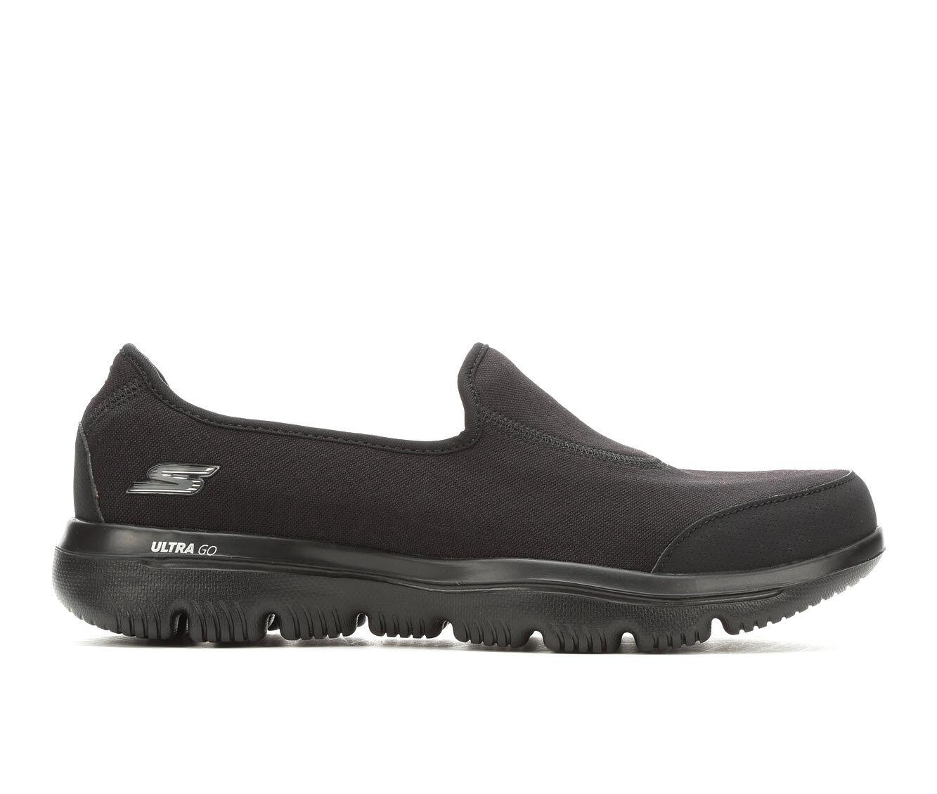Women's Skechers Go Ultra 15763 Slip-On Shoes Black
