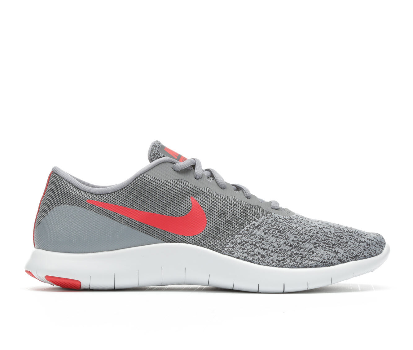 Men's Nike Flex Contact Running Shoes Gry/Red/Wht 006