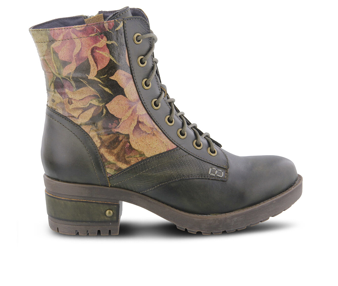 Women's L'ARTISTE Marty Hiking Boots Olive Green