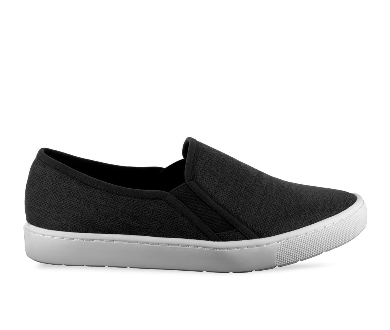 Women's Easy Street Plaza Sneakers Black Linen Pri