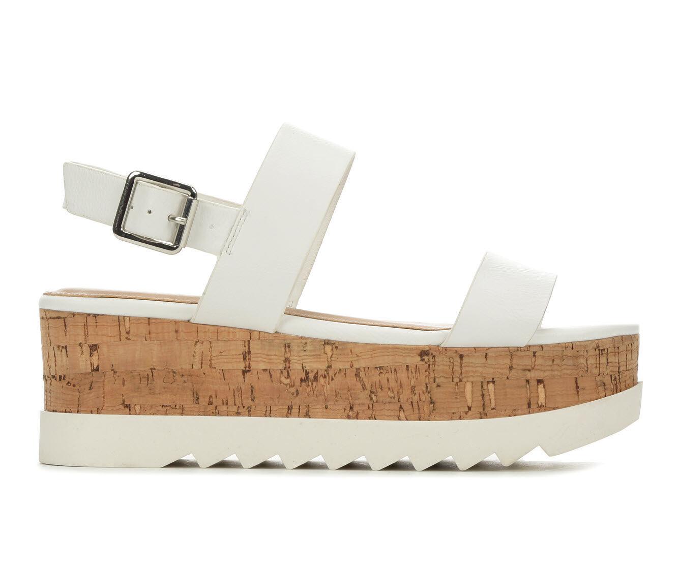 Durable Women's Madden Girl Sweet Flatform Sandals White