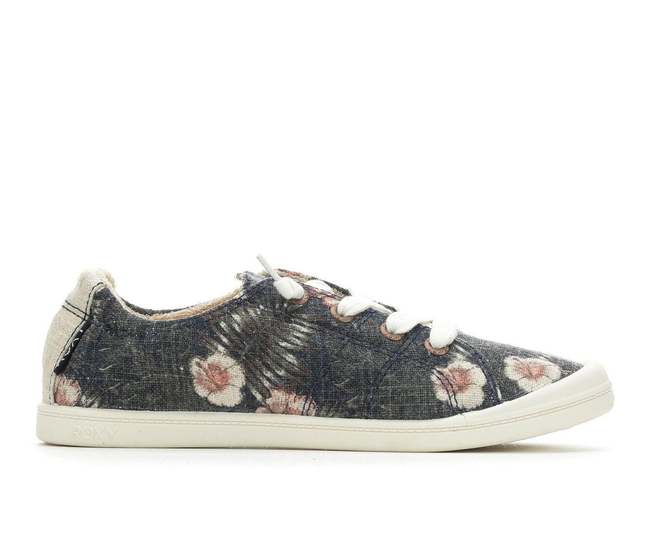 Women's Roxy Bayshore Sneakers Navy Floral